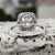 2.10 Carat Colorless Cushion Cut Moissanite Halo Wedding Anniversary Ring in 14K White gold by Yogee Gems (3)