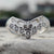 1.00 Ct Colorless Round and Baguette Moissanite V-Shape Eternity band in 10K White gold by Yogee Gems  (1)