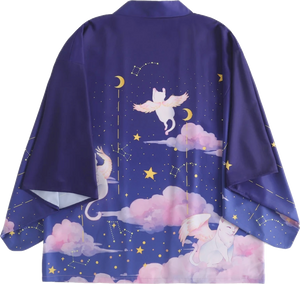 Cats with wings kimono