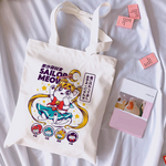 Load image into Gallery viewer, Sailor Meow tote bag