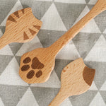 Load image into Gallery viewer, Wooden cat spoons (3 pieces)