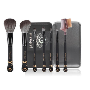 Cat paw makeup brush set (7 pieces)