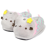 Load image into Gallery viewer, Mermaid pusheen slippers