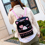Load image into Gallery viewer, Intergalactic cat backpack - black