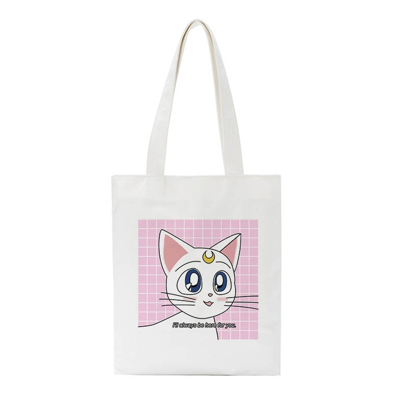 Sailor Moon Artemis canvas tote bag