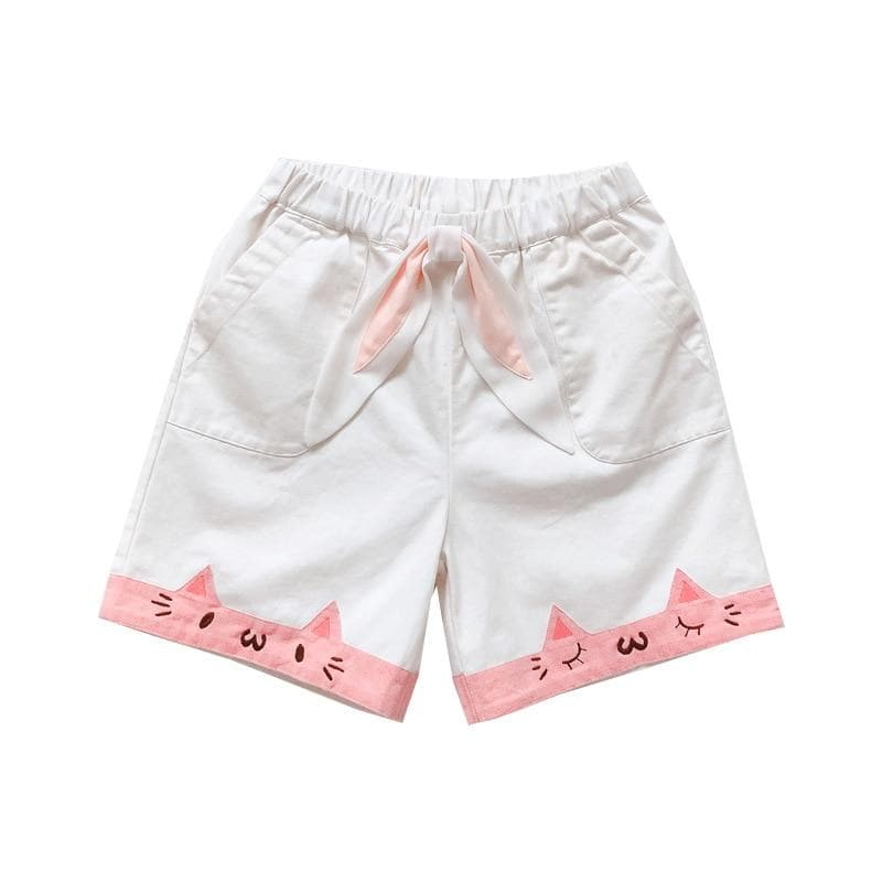 Cat shorts - white