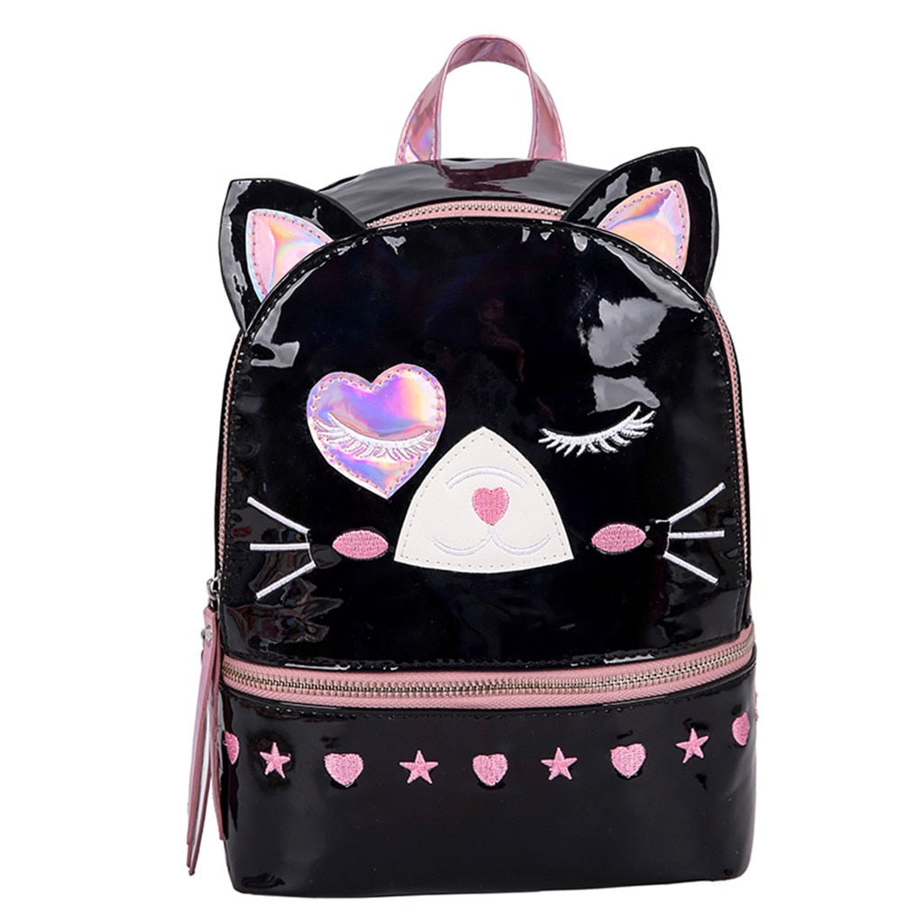 Intergalactic cat backpack - black