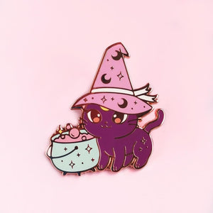 Cat witch pin