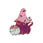 Load image into Gallery viewer, Cat witch pin