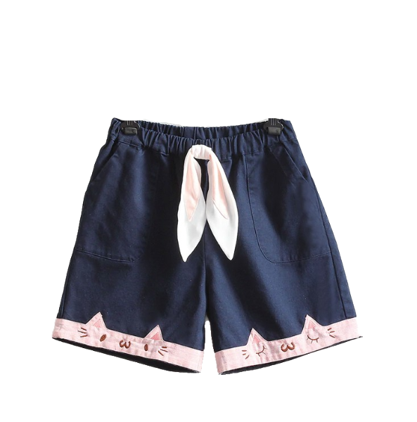 Cat shorts - navy