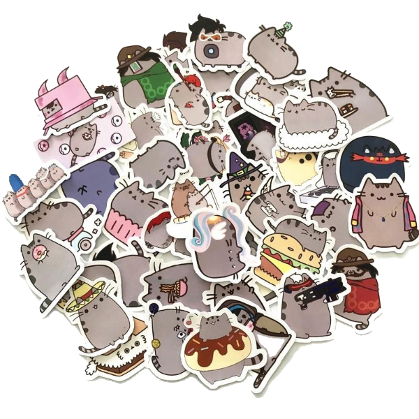 Pusheen stickers (100 pieces)