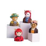 Load image into Gallery viewer, Bowie, Kahlo, Kusama, and Jackson iconic artists cat figurines