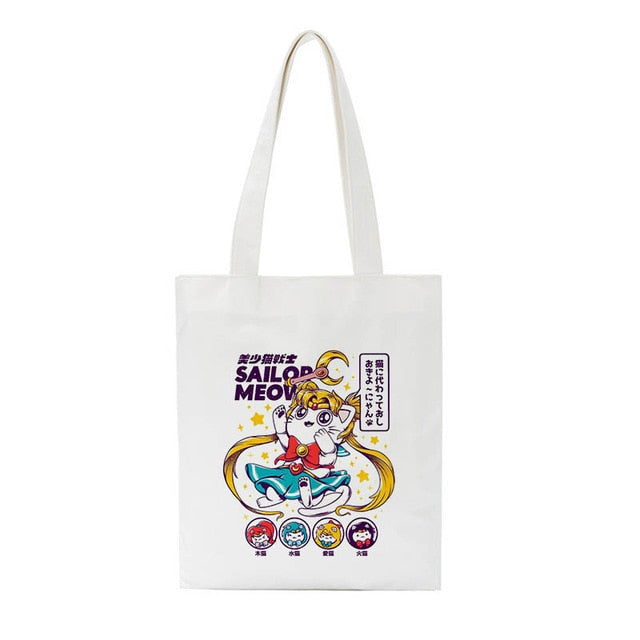 Sailor Meow tote bag