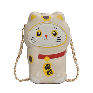 Lucky cat purse - Shy beige