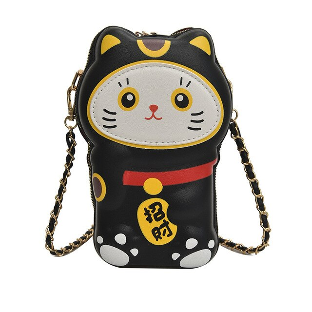 Lucky cat purse - Shy black