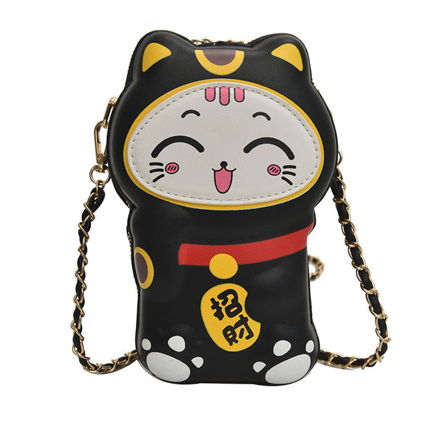 Lucky cat purse - Happy black