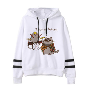 Pusheen the cat hoodie - rock
