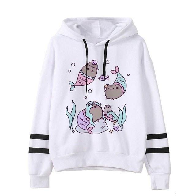 Pusheen the cat hoodie - mermaids