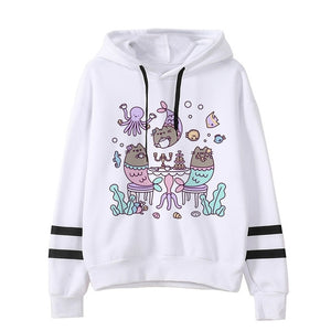 Pusheen the cat hoodie - octopus