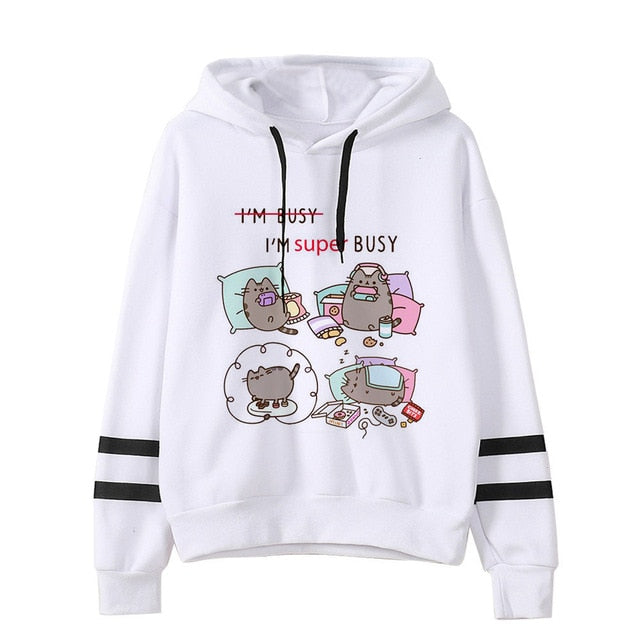 Pusheen the cat hoodie - lazy