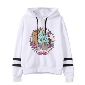 Pusheen the cat hoodie - christmas