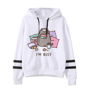 Pusheen the cat hoodie - busy