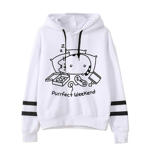 Pusheen the cat hoodie - B&W