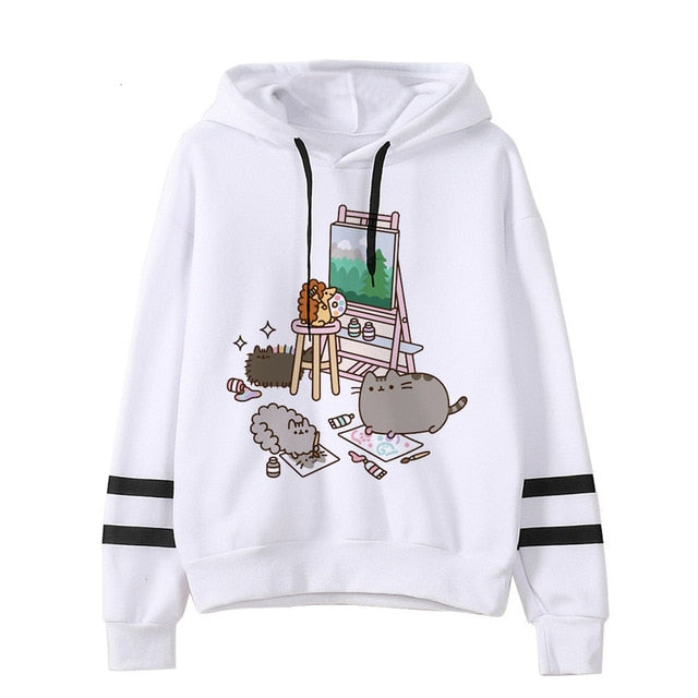 Pusheen the cat hoodie - art