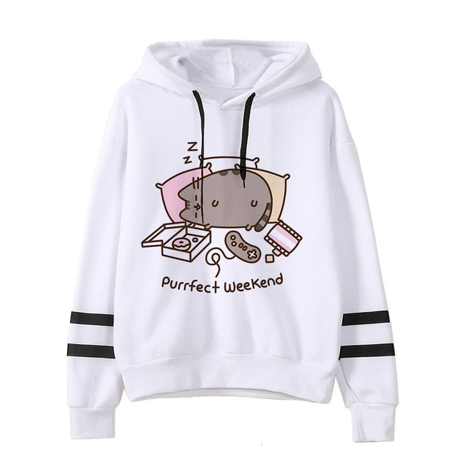 Pusheen the cat hoodie - weekend