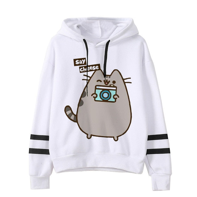 Pusheen the cat hoodie - camera