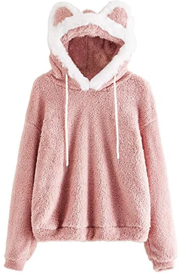Kawaii cat ears cotton and fleece hoodie