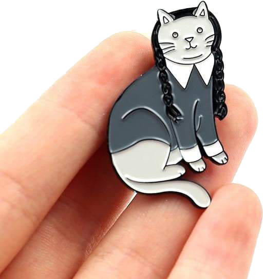Wednesday Catams cat pin