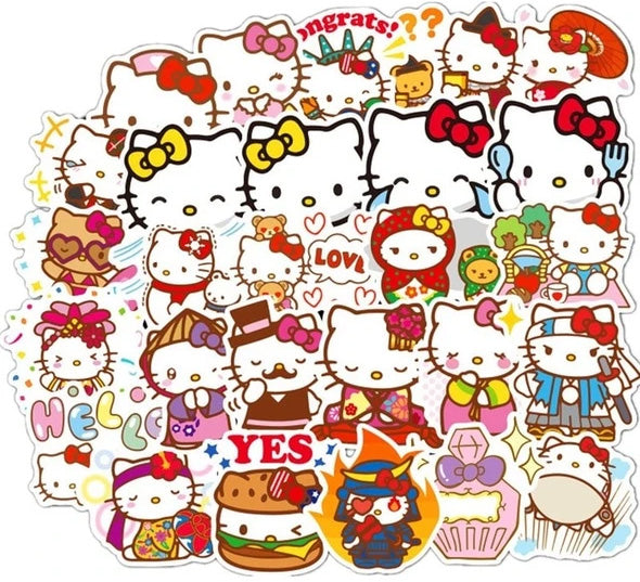 Hello Kitty stickers (100 pieces)