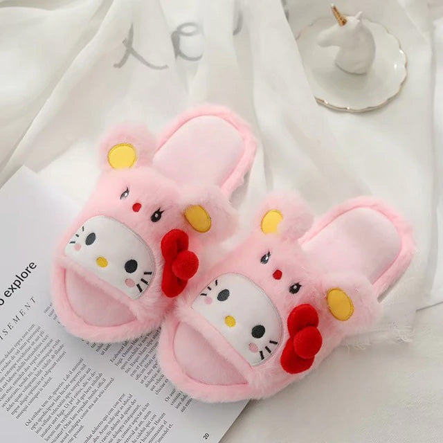 Hello Kitty soft cotton slippers