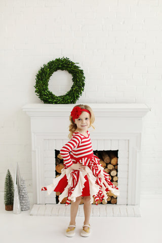 LLL Candy Cane Twirl Dress