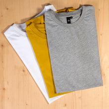 Laden Sie das Bild in den Galerie-Viewer, T-Shirts, grey, white, mustard