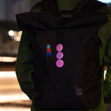 Laden Sie das Bild in den Galerie-Viewer, Pink reflective buttons on GOT Bag