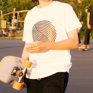 Reflective T-SHIRT - Swirl (white)