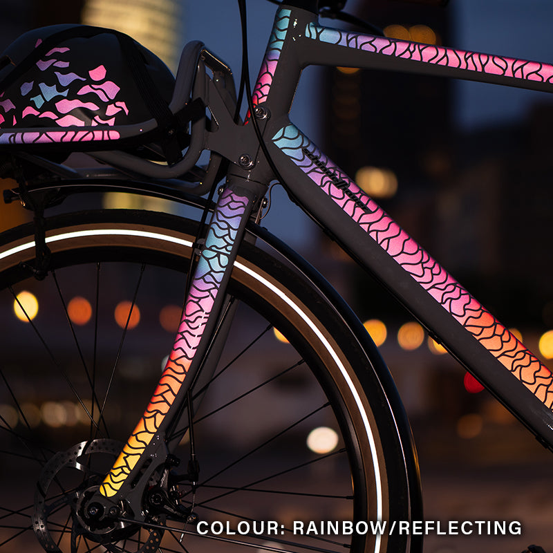 Reflective BIKE, Flow Design, rainbow, Schindelhauer, night, reflective