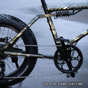 BMX, Fatbike, camouflage sticker, reflective decals, custom