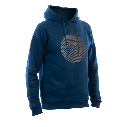 Reflective Hoodie, navy blue, Swirl, front