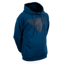 Laden Sie das Bild in den Galerie-Viewer, Reflective Hoodie, navy blue, Waves, front