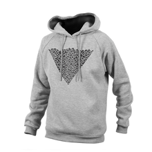 Laden Sie das Bild in den Galerie-Viewer, Reflective Hoodie, grey, Waves, front