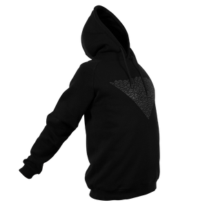 Reflective Hoodie, black, Waves, front