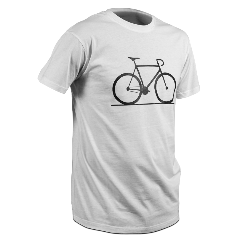 product picture, t shirt, front, bicycle