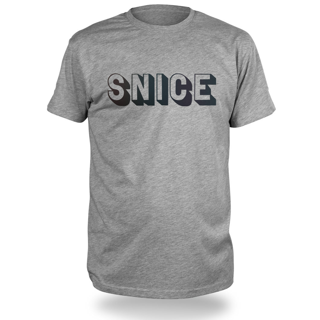 Reflective T-SHIRT, product picture front, grey melange, SNICE