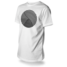 Laden Sie das Bild in den Galerie-Viewer, Reflective T-SHIRT, product picture front, white, Swirl