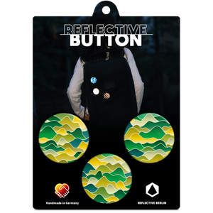 Reflective BUTTON, Wellen Berge, Produktbild