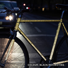 Laden Sie das Bild in den Galerie-Viewer, reflective bicycle, bike wrap, design bold, traffic