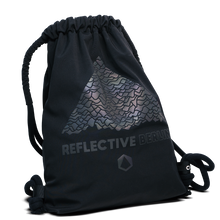 Laden Sie das Bild in den Galerie-Viewer, Reflective Backpack, black, gym bag